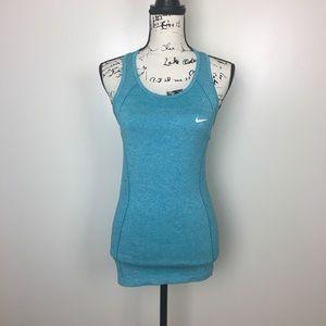 Nike Women's Dri Fit Knit Tank Top Racerback Blue